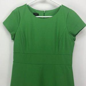 Talbots Green Cap Sleeve Knee  Length Dress